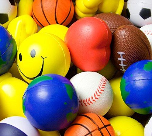 Pack von 10Sortiert Stress Ball Formen ()