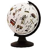 Décorative bureau Rotating Globe Instruments de musique Table cadeau Décor 11.3\