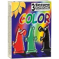 Orion 415472 Secura Color 3er Set mit Farbe und Aroma, Farbige Kondome mit Aroma: Grün (Pfefferminz), Rot (Erdbeere... preisvergleich bei billige-tabletten.eu