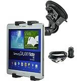 KFZ Auto Tablet PC Halterung Halter für Windschutzscheibe für Samsung Galaxy Note / Tab 8 - 10 Zoll inkl. KFZ Ladeset Micro-USB Ladekabel & Ladeadapter