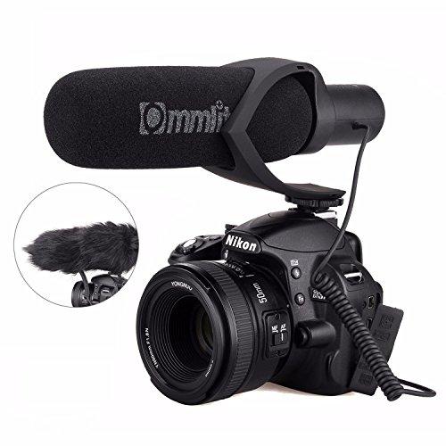EACHSHOT CoMics Elektrisches Super-Nieren-Richtungs-Kondensator Schrotflinte Video-Mikrofon für Video und Interview mit Nikon Canon Sony Kamera, Camcorder (3,5 mm Klinke) (AA Batterie im Lieferumfang