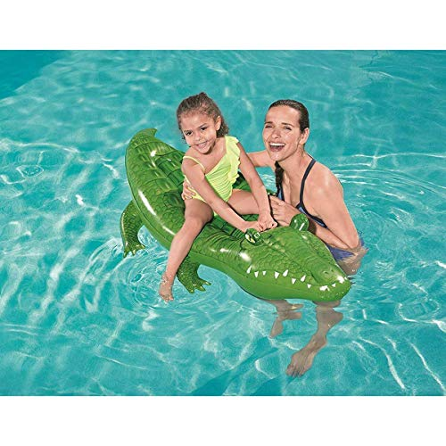 LEMON TREE SL Colchoneta Flotador Hinchable Cocodrilo para Playa o Piscina tamaño...