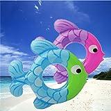Best Disney Frozen Pool Floats - LanLan Thicken Swim Ring Inflatable Cartoon Fish Pattern Review