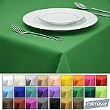 Rollmayer Tischdecke Tischtuch Tischläufer Tischwäsche Gastronomie Kollektion Vivid (Grün 25, 120x160cm) Uni einfarbig pflegeleicht waschbar 40 Farben
