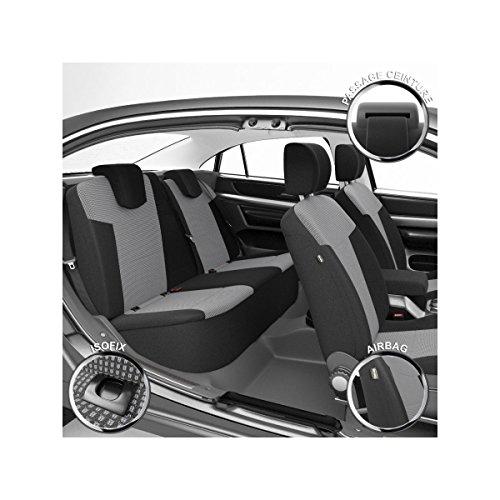 DBS 1012071 Coprisedili Auto/Vettura - Su Misura - Rifinizioni Alta Gamma - Montaggio Rapido - Compatibile Airbag - Isofix