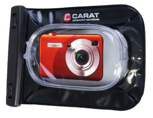 original Carat electronics Outdoor- / Unterwasser-Kamerartasche für Canon PowerShot SX240HS, SX260HS, Casio Exilim EX-ZR20, ZR200, Fuji Finepix F660EXR, T350, T400, Nikon Coolpix P310, S6300, Olympus SH-21, VR-340, VR-360, Panasonic Lumix DMC-TZ25, TZ31, Sony DSC-H90, HX10V