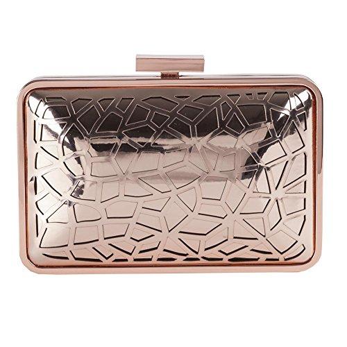Borsa clutch Celine in metallo satinato - Anna Cecere Rosa