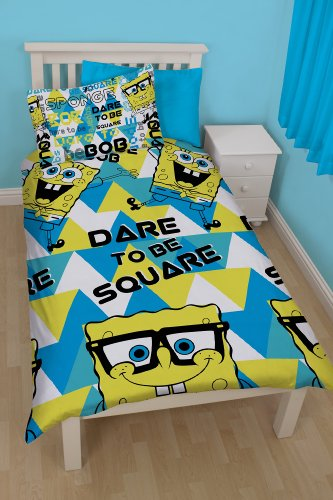 Image of Spongebob Squarepants Happy Single Rotary Duvet Set