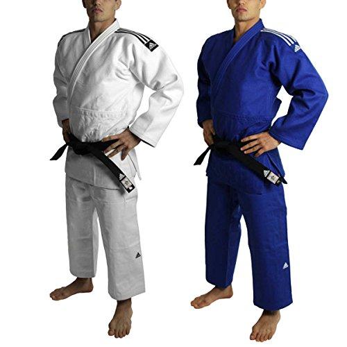 Judogi adidas j730 ijf omologato blu slim fit 160 cm