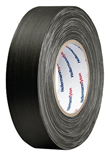HellermannTyton Gewebeklebeband HelaTape Tex Schwarz (L x B) 50 m x 19 mm Kautschuk Inhalt: 1 Rolle