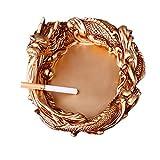 Medigy Coole Drachen Aschenbecher Aschenbecher-Dekoration mit Motiv Weihnachtsgeschenke, Gold