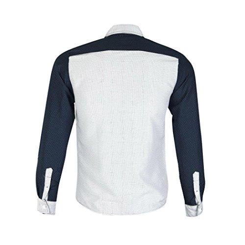 Oyedens Herren Stilvolle Luxux Lange ÄRmel BeiläUfige DüNne Sitz T Shirts Weiß
