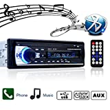 Bluetooth Autoradio,Single-Din Auto Audio Stereo FM Radio,Lettore mp3 USB/SD/AUX HandsFree con telecomando