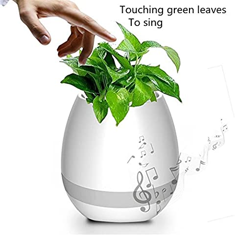 Mini Wireless Bluetooth Speaker Waterproof MP3 Seven color piano Flower Pot induction Bluetooth speaker , 1