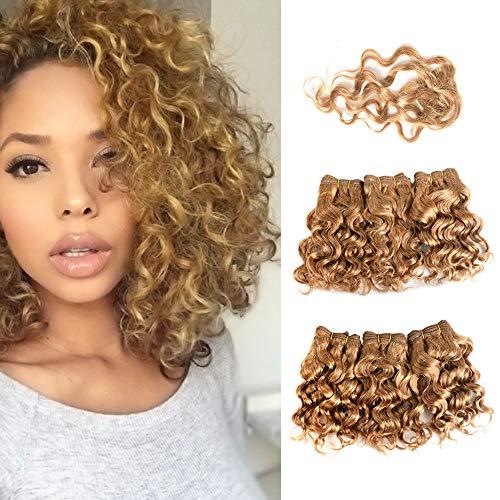 Brasilianisch Blond Haar Einschlagfaden Weben Bündel 6Pcs 8\