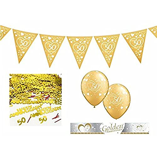 Golden wedding anniversary decorations australia flag