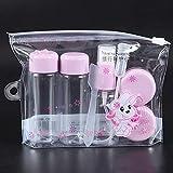 Jinxuny 7 Teile/Satz Reise Mini Make-Up Kosmetische Behälter Transparente Flaschen Gesichtscreme Leere Lidschatten Make-Up Flasche Lit (Color : Purple)