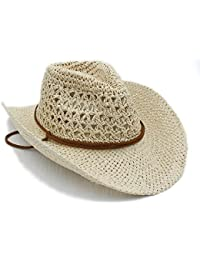 8bc04f7a71c3 2018 Women Hats, Straw Cowboy Hat, Summer Women Men Toquilla Straw Cowboy  Hat for
