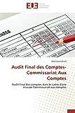 Audit final des comptes-commissariat aux comptes...