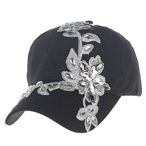 Rawdah Damen Baseball Cap weiß weiß, 012, schwarz, Rawdah02 (Diamond Womens Knit Cap)