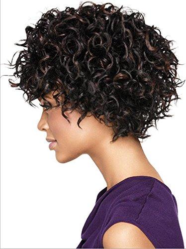 o kurze Lockenperücke für schwarze Frauen/3 Frisuren , shape 1 (Teufel Halloween Frisuren)