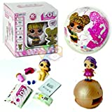 LOL Surprise Action Doll with 8 Surprises Inside a Ball ( with Lights) Toys for Girls & Boys ( 1 pc Random Design)