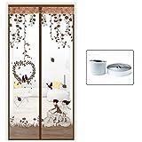Silk Road Magic Aufkleber anti-moskito Vorhang Sommer magnetische soft Bildschirm Tür Verschlüsselung home Schlafzimmer tuch Vorhänge Bildschirm Bildschirme Samana - Grün 90 x 205 cm (35 x 81 Zoll)