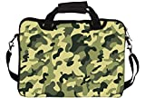"Snoogg Camo Green Military 2764 17"" 17.5"" 17.6"" inch Laptop Notebook SlipCase With Shoulder Strap Handle Sleeve Soft Case With Shoulder Strap Handle Carrying Case With Shoulder Strap Handle for Macbook Pro Acer Asus Dell Hp Sony Toshiba"