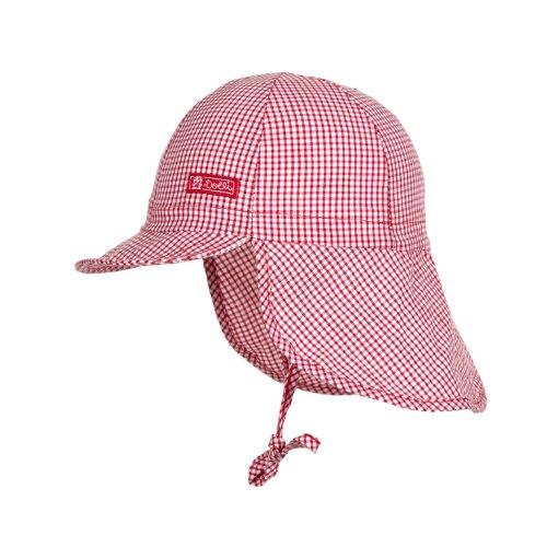 Döll Unisex - Baby Bindemütze mit Nackenschutz 001666941, Rot (chinese Red 2000), 47 (Passform Cap Ausgestattet Hut Eine)