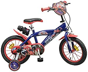 toimsa 14 zoll kinderfahrrad spiderman jungen 4 5 6 7. Black Bedroom Furniture Sets. Home Design Ideas