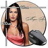 Megan Fox C Tapis De Souris Ronde Round Mousepad PC