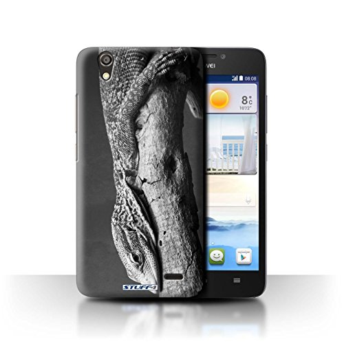 Stuff4® Hülle/Hülle für Huawei Ascend G630 / Eidechse Muster/Zoo-Tiere Kollektion