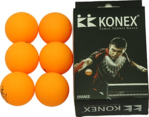 Konex Synthetic Table Tennis Ball, Pack of 6 (Yellow)  available at amazon for Rs.168