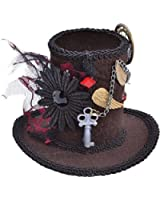 Halloween Victorian & Edwardian Fancy Party Steampunk Mini Top Hat Mad Hatter