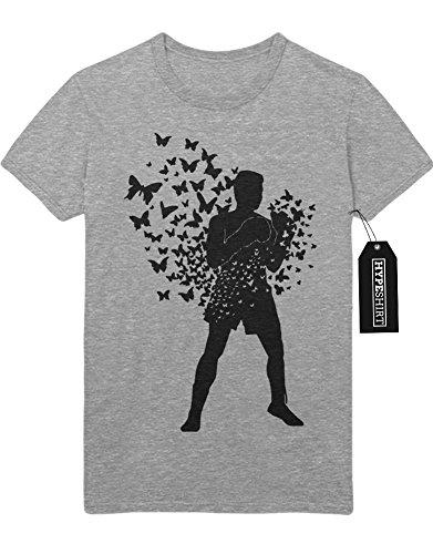 "T-Shirt ""MUHAMMAD ALI BIRDS"" H23194 Grau"
