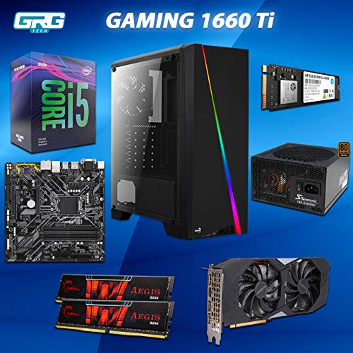 Price comparison product image Gaming PC Intel i5 9400 6 Core - 16GB RAM DDR4 3000MHZ - Gigabyte H370 - Gigabyte NVIDIA 1660 Ti OC 6G - SSD Nvme 500GB - PSU 630W Seasonic 80+ - Case Aerocool RGB
