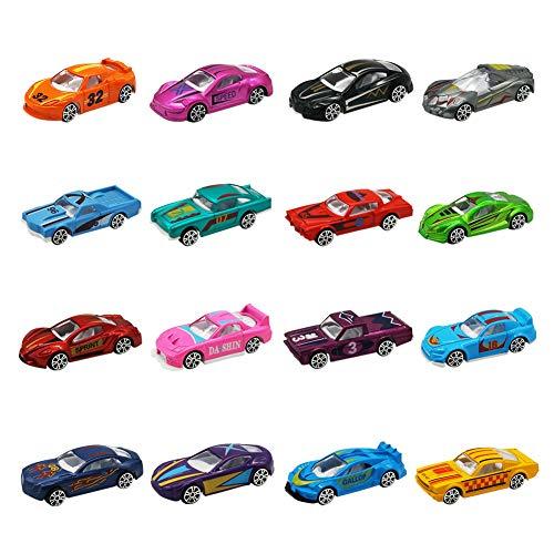 Nuheby Auto Spielzeug Kinder- Mini Auto Set Rennauto Spielzeugauto Geschenkset für Mädchen Junge 3 4 5 6 Jahre,16er Pack