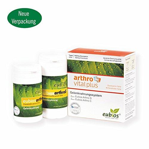 Arthro Plus, Gelenknahrungssystem, 1400 mg Glucosamin + 430 mg Chondroitin, Monatspackung, deutsche Herstellung