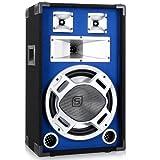 Skytronic Style Box Lautsprecher blau beleuchtet 600W