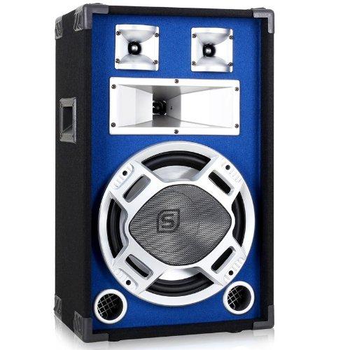 Skytec Sonido Profesional DJ Altavoz 30cm con LED efectos de luz azul 600W