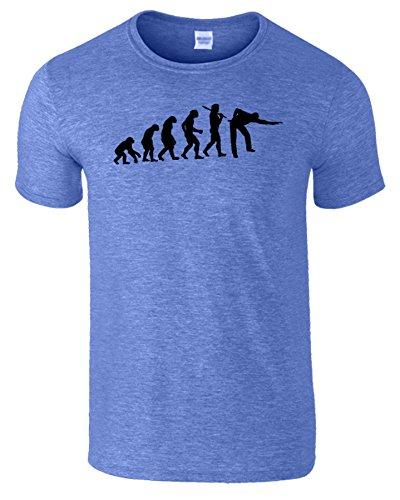 Evolution Of Snooker Herren T Shirt Schwimmbad Komisch Spiel Heidekönigsblau / Schwarz Design