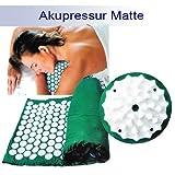Yoga Tappetino Per L'agopuntura Stuoia Shanti Iplikator Stuoia di chiodo 65x39 verde