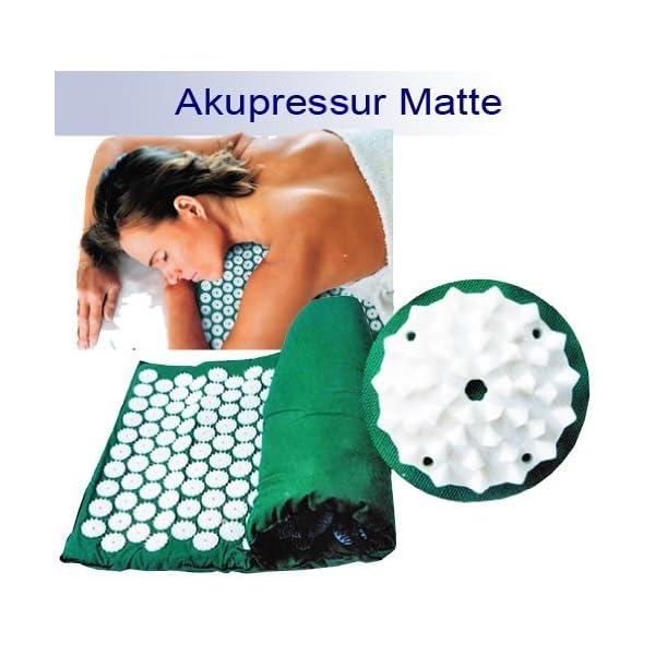 Yoga Akupressurmatte Akupunkturmatte Shanti Iplikator Nagelmatte 65x39 Grn