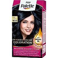 Poly Palette Intensiv Creme Coloration, 909 blauschwarz, 3er Pack (3 x 1 Stück)
