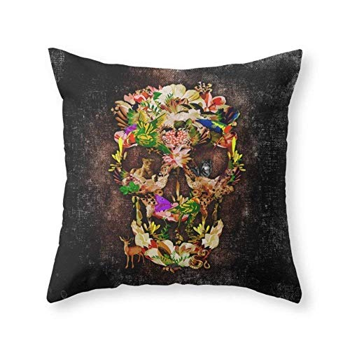 Animal Kingdom Sugar Skull iPhone 4 4s 5 5s 5c 6, Ipod, Ipad, Pillow Case and Tshirt Throw Pillow Indoor Cover (18
