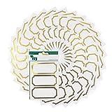 Ivy - Etiquetas adhesivas para tarros de conserva, 34 x 75 mm, 225 unidades, color blanco y dorado