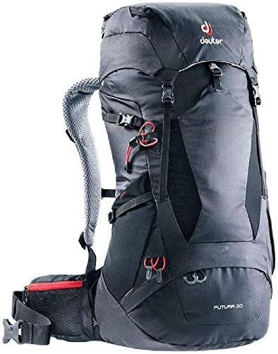 51908ebe9f Deuter Futura 30, Zaino Unisex-Adulto, Nero (Black), 68 Centimeters