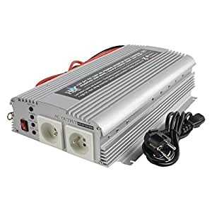 HQ HQ-INV1KC/12F Convertisseur 1000 W 12 V 230 V avec Chargeur Integre