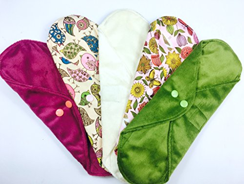 heavy-wildlife-collection-5-pack-cloth-sanitary-pads-csp-heavy-flow-30cm-long-x-10cm-wide-1175-l-x-4