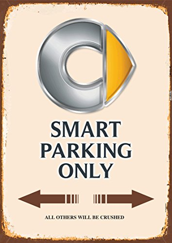 Smart Parking only blechschild auto motorrad park schild